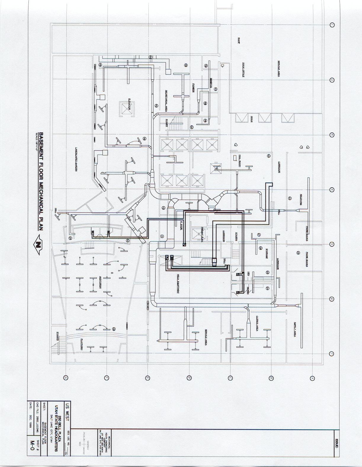 Index Of Resume Portfolio Mechanical Hvac Piping Drawing M 28mech